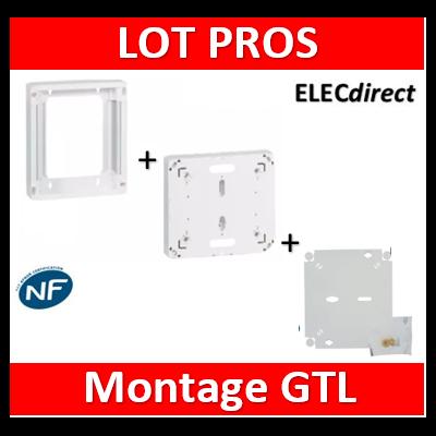 Legrand - Fond isolant + platine disjoncteur seul DRIVIA + rehausse - montage GTL- 401191+401193+401380