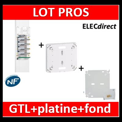 Legrand - Fond isolant + platine disjoncteur seul DRIVIA + GTL complet - 401191+401193+030037