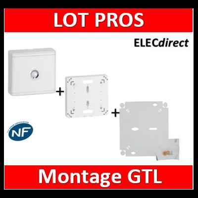 Legrand - LOT PROS - Platine pour Disjoncteur Seul - DRIVIA 13M + habillage + porte + fond- 401191+401185+401193
