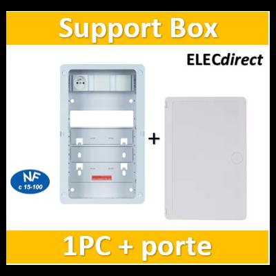 Casanova - Support BOX 375 x 250 mm équipée d'un bandeau 1PC + porte - ZA375C+PCST375