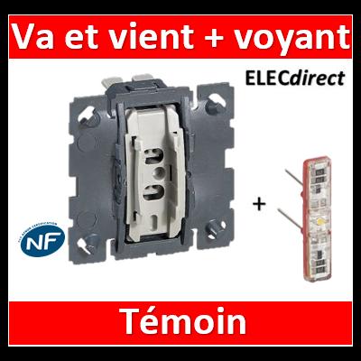Legrand Céliane - Mécanisme + voyant - Va et vient témoin 10A - 067001+067688