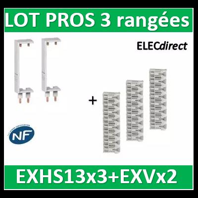 Schneider - LOT PROS - Peignes Vert. + Hor. XE 13M pour tableaux 3 rangées - R9EXHS13x3+R9EXVx2