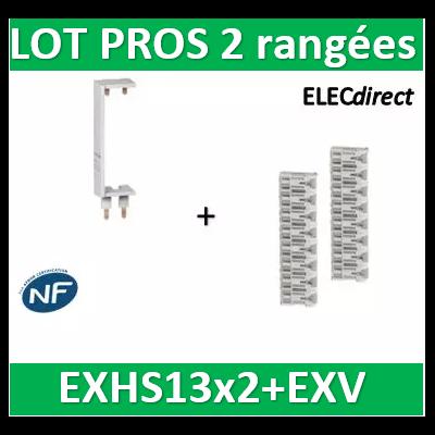 Schneider - LOT PROS - Peignes Vert. + Hor. XE 13M pour tableaux 2 rangées - R9EXHS13x2+R9EXV
