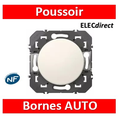 Legrand - Poussoir simple dooxie 6A 250V~ finition blanc - 600004