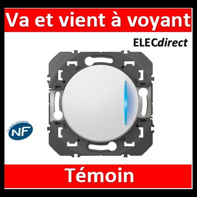 Legrand - Interrupteur ou va-et-vient avec voyant témoin dooxie 10AX 250V~  finition blanc - 600009