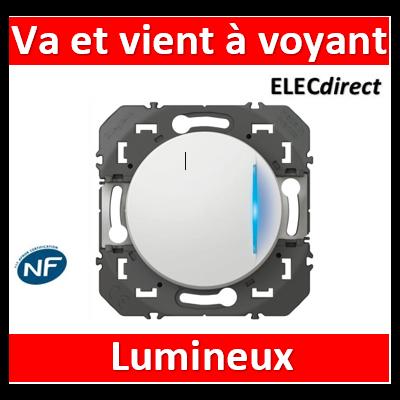 Legrand - Interrupteur ou va-et-vient avec voyant lumineux dooxie 10AX 250V~ finition blanc - 600011