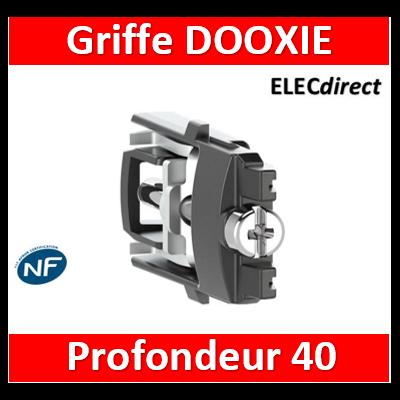 Legrand - Griffe Rapido profondeur 40mm pour fixation des appareils dooxie en rénovation - 600049
