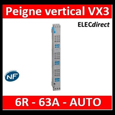Legrand - Peignes verticaux VX³ auto - 63 A - pour coffrets 6 rangées - 405026