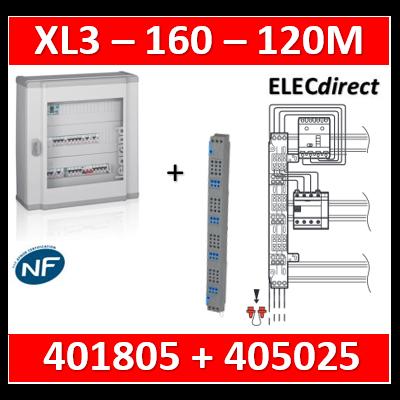 Legrand - Coffret 120 modules - 5 rangées de 24M + peigne vertical tétra 4P - XL3 160 - 401805+405025