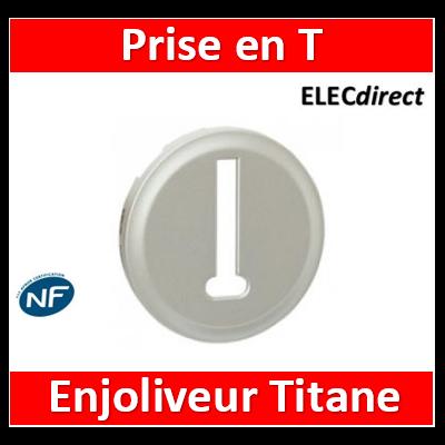 Legrand Céliane - Enjoliveur Titane Legrand Céliane - prise téléphone - 8 contacts - 068538