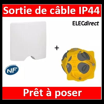 Legrand Niloé - Sortie de câble IP44 - livré complet - Blanc + boîte BBC - 664749+080021