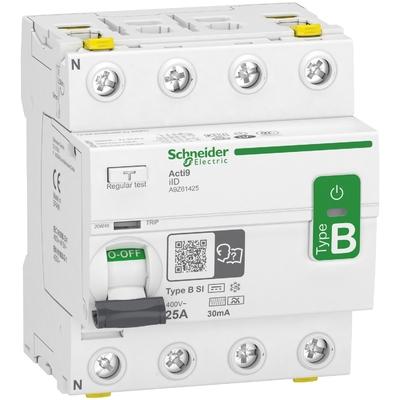 Schneider - Interrupteur différentiel ID 4P 25A 30MA type B - A9Z61425