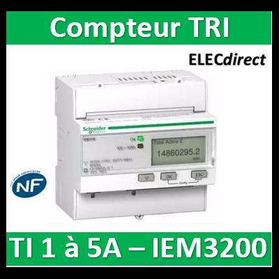 Schneider - Acti9, iEM Compteur d'énergie iEM3200 TI - Acti 9 - A9MEM3200