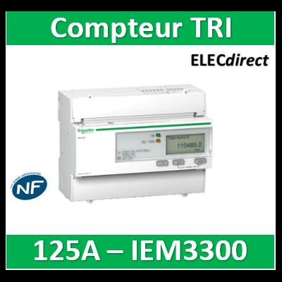 Schneider - Acti9, iem compteur d'énergie iem3300 125A - A9MEM3300