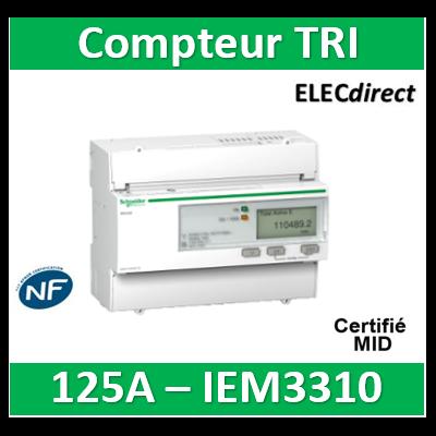 Schneider - Acti9, iem compteur d'énergie iem3310 125a, impulsionss, mid - A9MEM3310