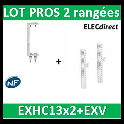 Schneider - LOT PROS - Peignes Vert. + Hor. XE 13M pour tableaux 2 rangées - R9EXHC13x2+R9EXV