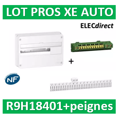 Schneider - Resi9 - coffret 18M - 1R + peigne Ph+N 18M pour gamme AUTO (XE) - R9H18401+R9EXHC18