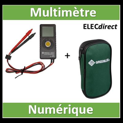 Multimètre numerique de poche PDMM-20 Greenlee - 50116894V2