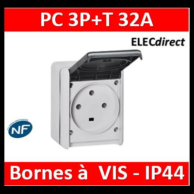 Legrand Plexo - Prise de courant 3P+T 32A - saillie - IP44/IK08 - 055875