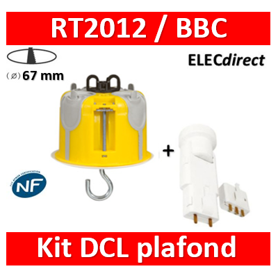 Legrand Batibox - Kit point de centre DCL BBC + Douille/Fiche SIB - 089377+11127