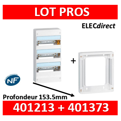 Legrand - LOT PROS - Coffret DRIVIA 39 Modules + rehausse - 401213+401373