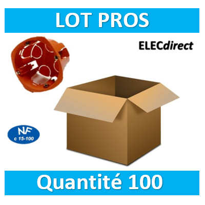 SIB - LOT PROS - Boîte simple 1 poste Profondeur 40mm - 16840 x100