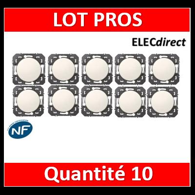 Legrand - Interrupteur ou va-et-vient Legrand dooxie 10AX 250V finition blanc - 600001x10