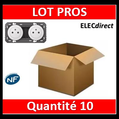 Legrand - Double prise de courant 2P+T Surface dooxie 16A précâblées finition blanc - 600332x10