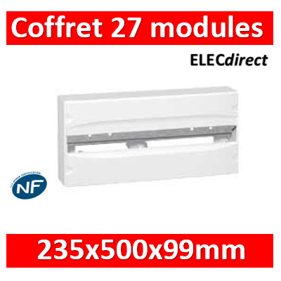 Legrand - Coffret 27 modules 235x500x99mm - blanc RAL9010 - 001226