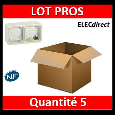 Legrand Plexo - Boîtier blanc 2 postes horizontaux - IP55/IK07 - 069690x8