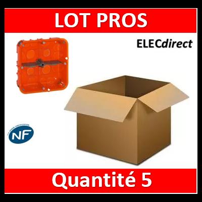 Legrand Batibox - Boîte multimatériaux 2x2 postes - 2x4/5M - profondeur 50 mm - 080124x5