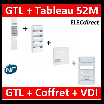Legrand - Kit GTL 13M complet + tableau 52M + VDI 8RJ45 - 030037+401214+413248+413083x4+ZA375