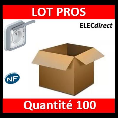 Legrand Plexo - Prise de courant encastré 2P+T 16A - 230V - IP55/IK07 - 069831x100
