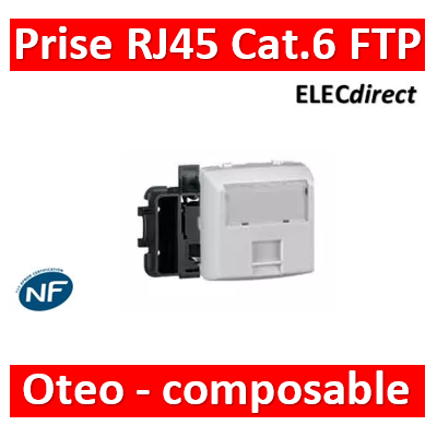 Legrand Oteo - Prise RJ45 Cat. 6 FTP appareillage saillie composable - blanc - 086147