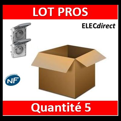 Legrand Plexo - Double PC précâblées - vertical - 16A - 230V - IP55/IK07 - 069563x5