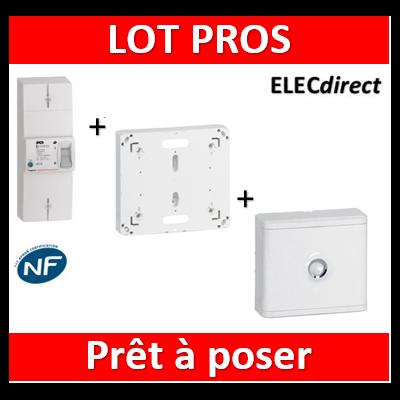Legrand - Disjoncteur de branchement EDF + platine + habillage + porte - 401006+401191+401185