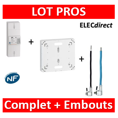 Legrand - Disjoncteur EDF 60A instantané + platine + embouts Ph+N 60A - 401051+401191+embouts