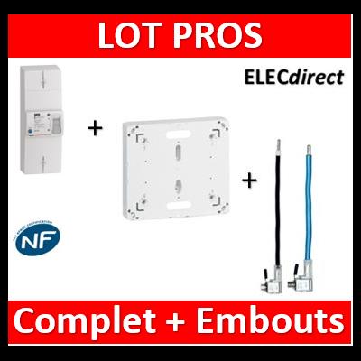 Legrand - Disjoncteur EDF 60A instantané + platine + embouts Ph+N 60A - 401051+401191+embouts