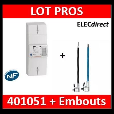 Legrand - Disjoncteur de branchement EDF 60A instantané + Embout EDF 60A 16mm2 - 401051+embout