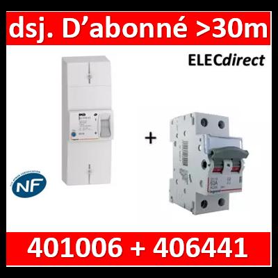 Legrand - Lot pour Disj. d'abonné >30m du tableau électrique - 63A - 406441+401006