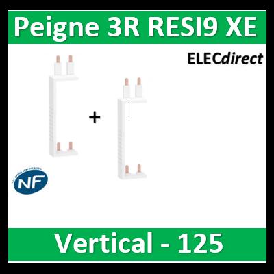 Schneider - Resi9 XP Peigne vertical 3 rangées entraxe 125mm pour Différentiel XE (AUTO) - R9EXVx2