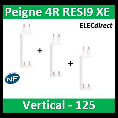 Schneider - Resi9 XP Peigne vertical 4 rangées entraxe 125mm pour Différentiel XE (AUTO) - R9EXVx3