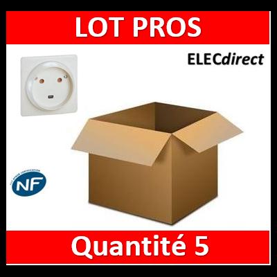 Legrand - Socle 32A - Plast - 2P+T - à VIS - éclips - 055812x5