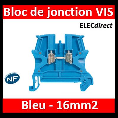 Legrand - Bloc de jonction Viking 3 à vis - 1 jonction/1 entrée/1 sortie - bleu - 16mm2 - pas 12 - 037104