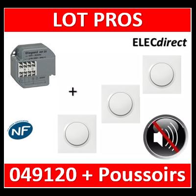 Legrand - Télérupteur - Unipolaire 16A + 3 Poussoirs Dooxie - 049120+600801x3+600004x3