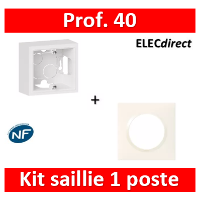 Legrand Dooxie - Cadre saillie 1 poste + plaque - 600041+600801