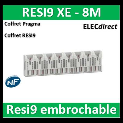 Schneider - Répartiteur RESI9 XE 16pas 8 M sans connecteur - R9EXHS08