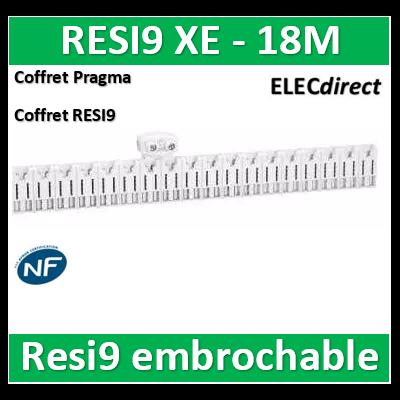 SCHNEIDER répartiteur RESI9 XE 36pas 18m avec connecteur - R9EXHC18