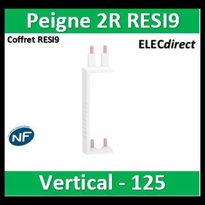 Schneider - Resi9 XP Peigne vertical 2 rangées entraxe 125mm - R9PXV