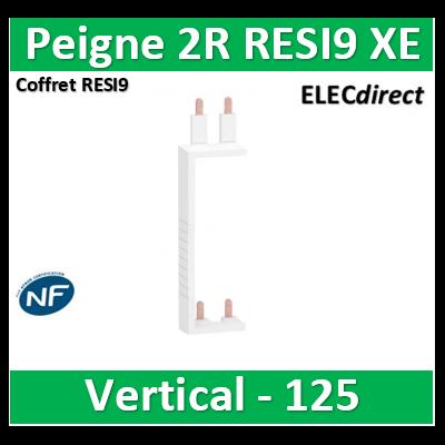 Schneider - Resi9 XE Peigne vertical 2 rangées entraxe 125mm pour Différentiel XE (AUTO) - R9EXV